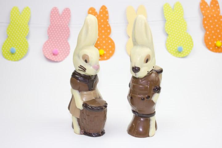 Coelha e Coelho c/cesto
